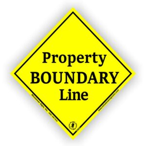 Diamond-Yellow-Aluminum-Boundary-Marker-Posted-Sign