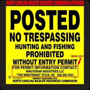 Posted-hunting-fishing-prohibited-north-carolina-312PNC-1