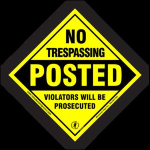 diamond-no-trespassing-posted-violators-sign-604PNT-1