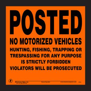 posted-no-trespassing-motorized-vehicles-orange-aluminum-1
