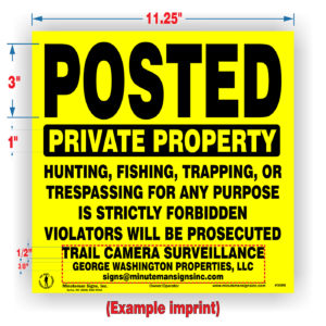 Custom Posted Private Property Signs